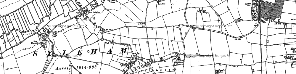 Old map of Wingfield Green in 1903