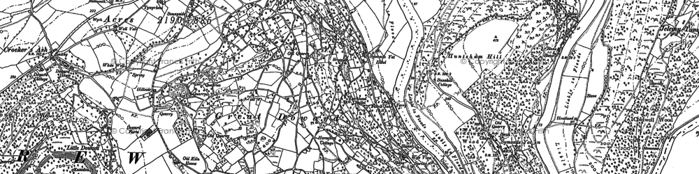 Old map of Symonds Yat in 1887