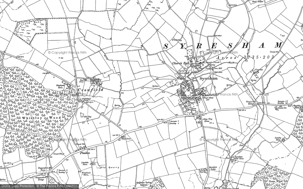 Old Map of Historic Map covering Abbey Way Ho in 1883
