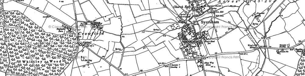 Old map of Abbey Way Ho in 1883