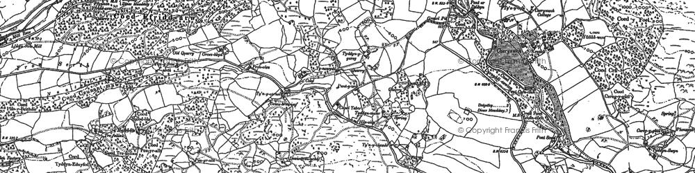 Old map of Afon Clywedog in 1887
