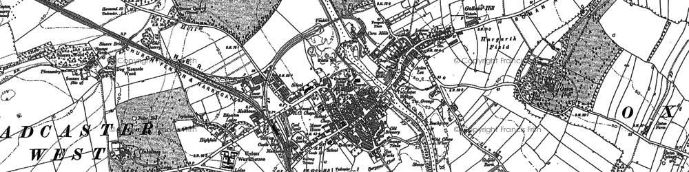 Old map of Tadcaster in 1891