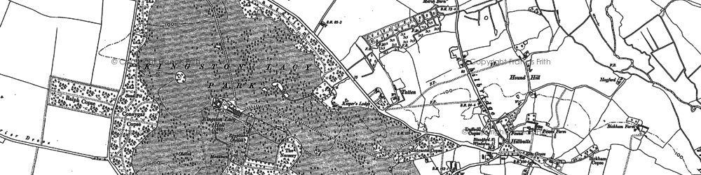 Old map of Wynne Copse in 1887