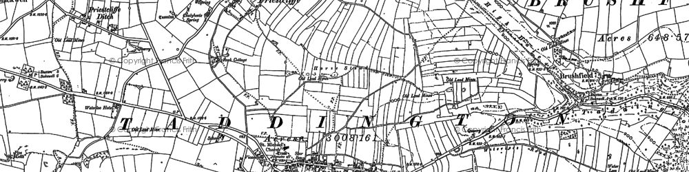 Old map of Taddington in 1879