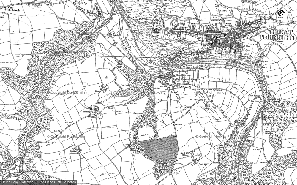 Map of Taddiport, 1886