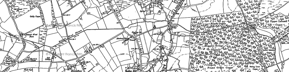 Old map of Tadley in 1894