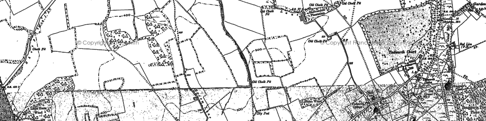Old map of Tadworth in 1895