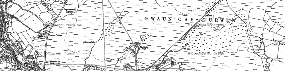 Old map of Tairgwaith in 1905