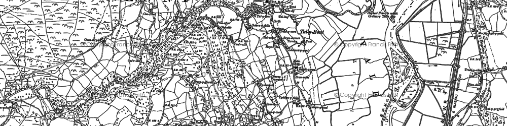 Old map of Afon Dulyn in 1887