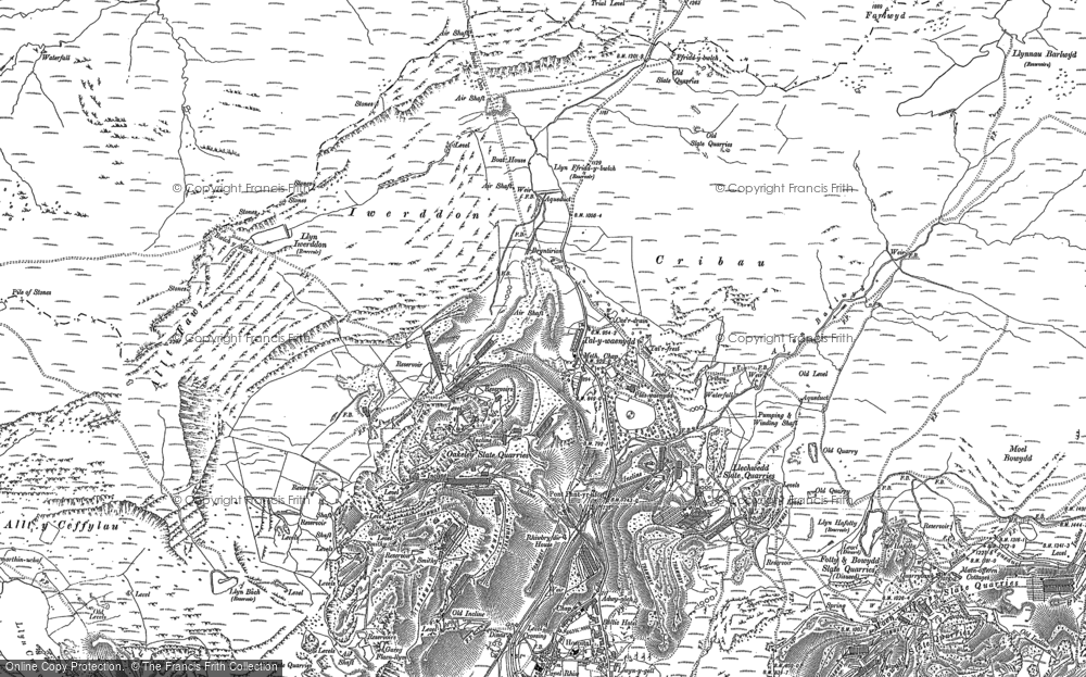Old Map of Historic Map covering Allt y Ceffylau in 1899