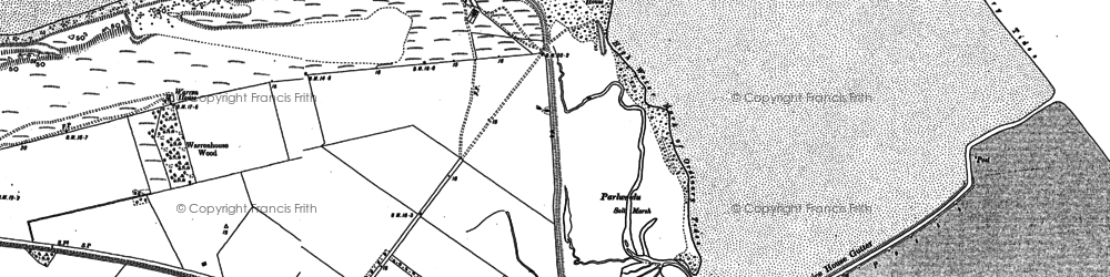 Old map of Talacre in 1910