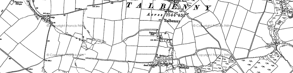 Old map of Ticklas Point in 1875