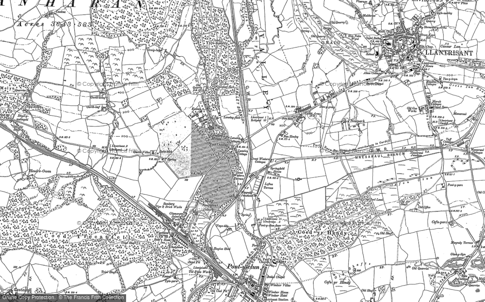 Old Map of Talbot Green, 1897 - 1898 in 1897