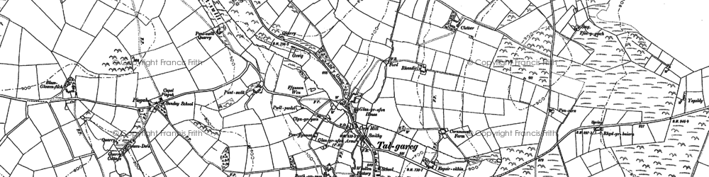 Old map of Alltmaen in 1887