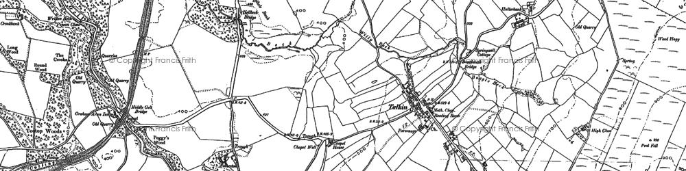 Old map of Talkin in 1899