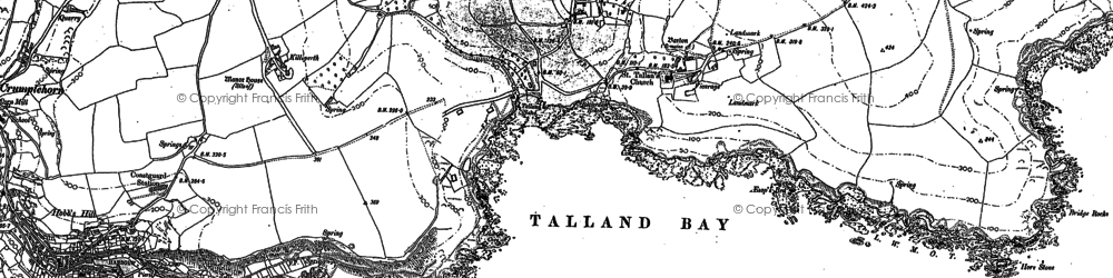 Old map of Talland in 1905