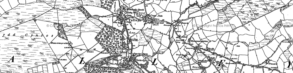 Old map of Talley in 1885