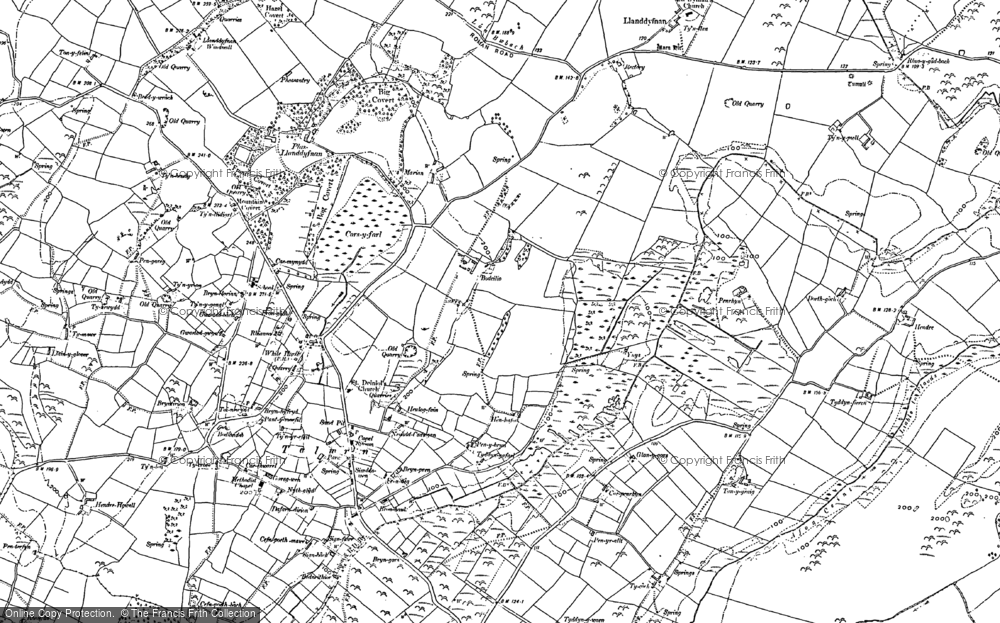 Old Map of Historic Map covering Afon Ceint in 1888