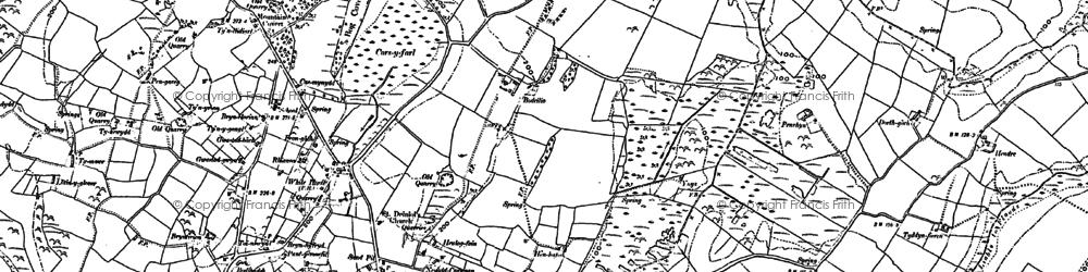 Old map of Afon Ceint in 1888