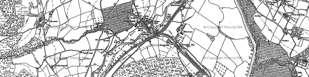 Old map of Aber Village in 1886