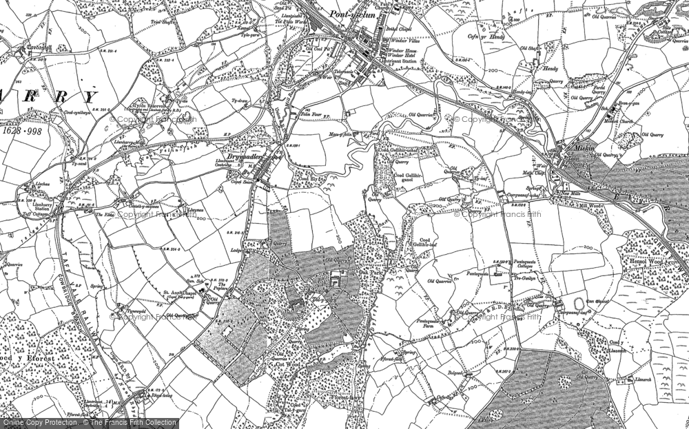 Old Map of Talygarn, 1897 - 1898 in 1897