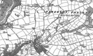 Old Map of Tamerton Foliot, 1905 - 1912