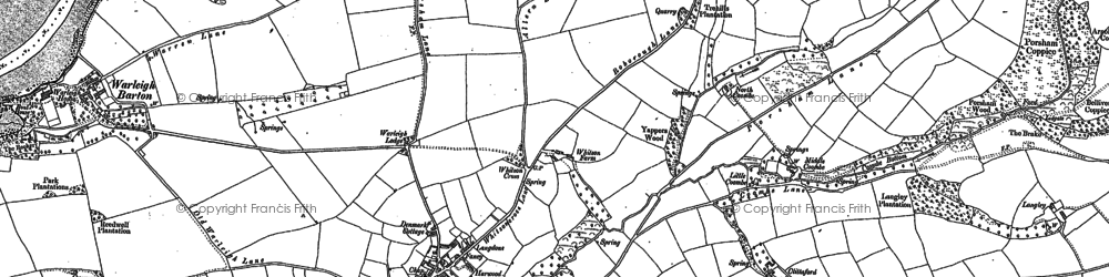 Old map of Ashleigh Barton in 1905