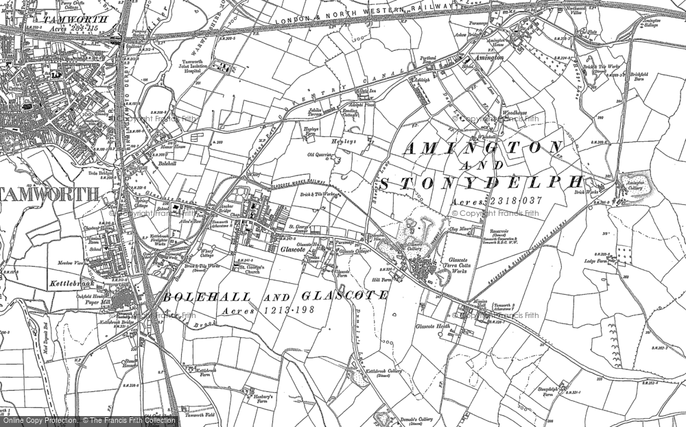 Old Maps of Tamworth Francis Frith
