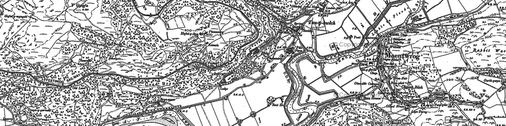 Old map of Afon Dwyryd in 1899