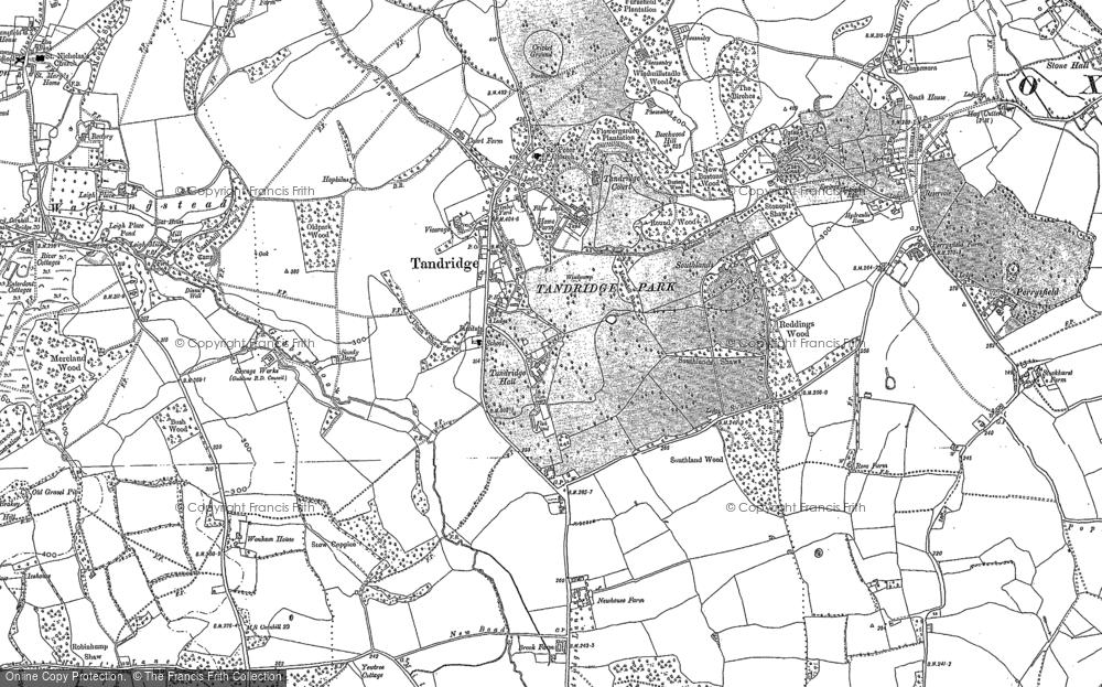 Old Map of Tandridge, 1895 - 1910 in 1895