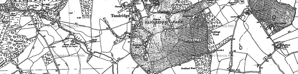Old map of Tandridge in 1895