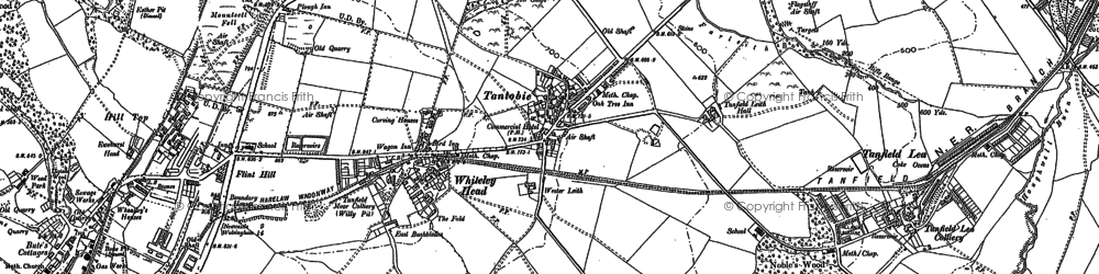 Old map of White-le-Head in 1895