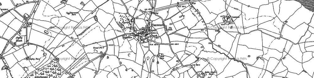 Old map of Aspley Heath in 1883