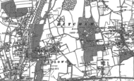 Old Map of Taplow, 1910