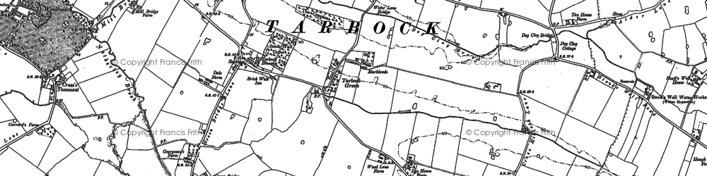 Old map of Tarbock Green in 1891