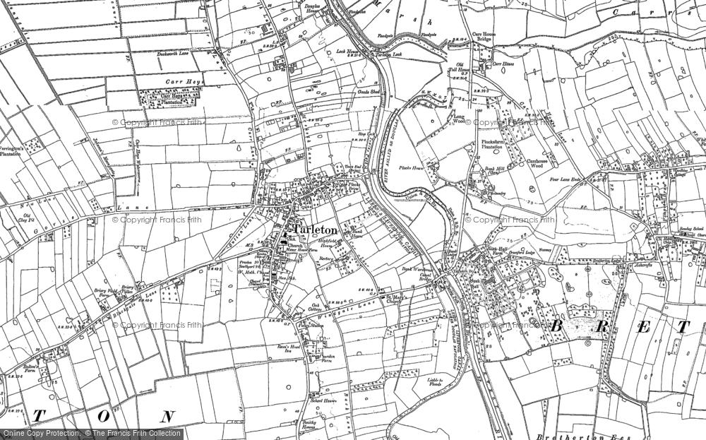 Tarleton State Map.Old Maps Of Tarleton Francis Frith
