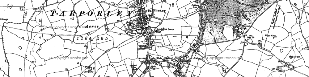 Old map of Tarporley in 1897