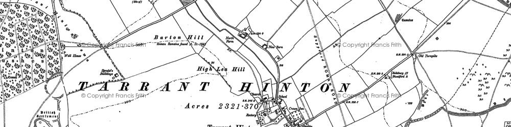 Old map of White Kennels in 1886