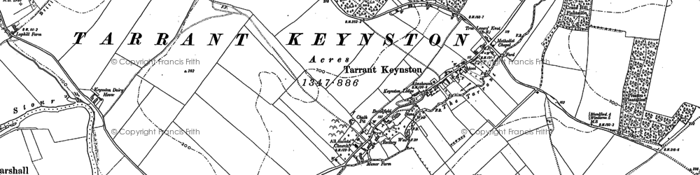 Old map of Ashley Wood in 1887