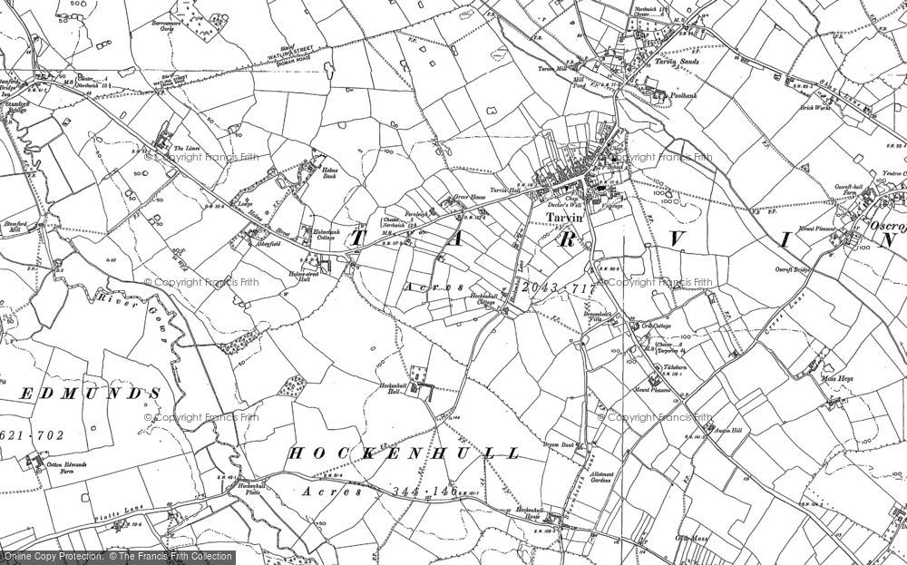 Old Map of Historic Map covering Abbeyfield in 1897