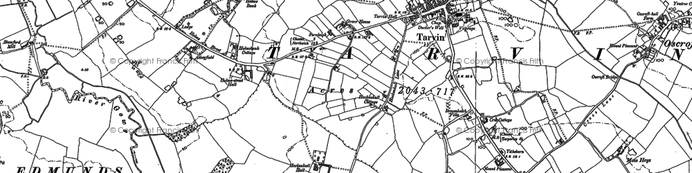Old map of Abbeyfield in 1897