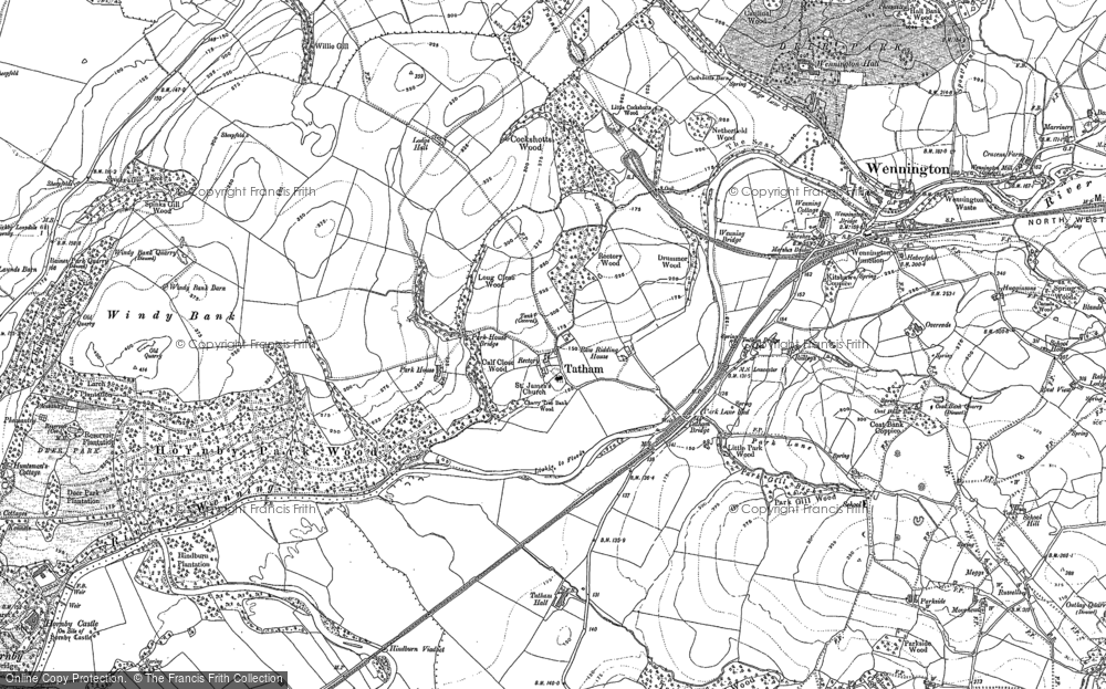 Old Map of Historic Map covering Ashleys in 1910
