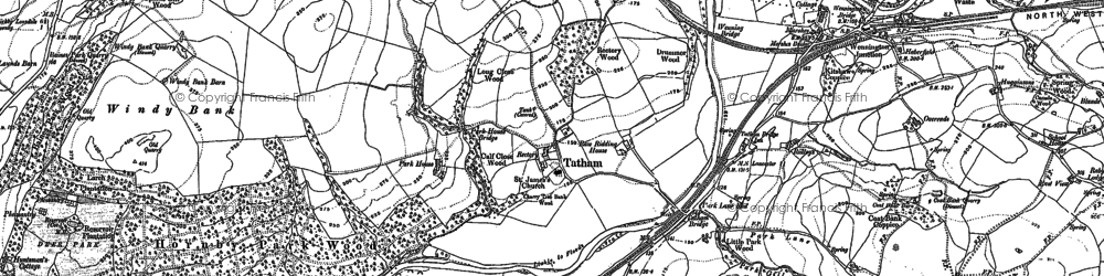 Old map of Ashleys in 1910
