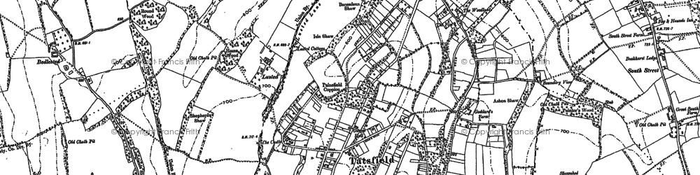 Old map of Tatsfield in 1907