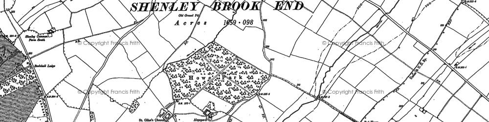 Old map of Tattenhoe in 1898