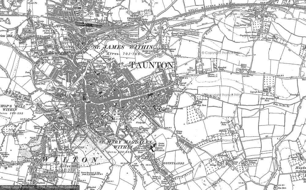 Old Maps of Taunton Francis Frith