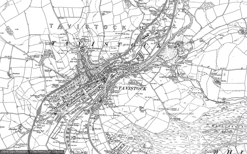 Old Map of Tavistock, 1905 in 1905