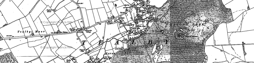 Old map of Tealby in 1886