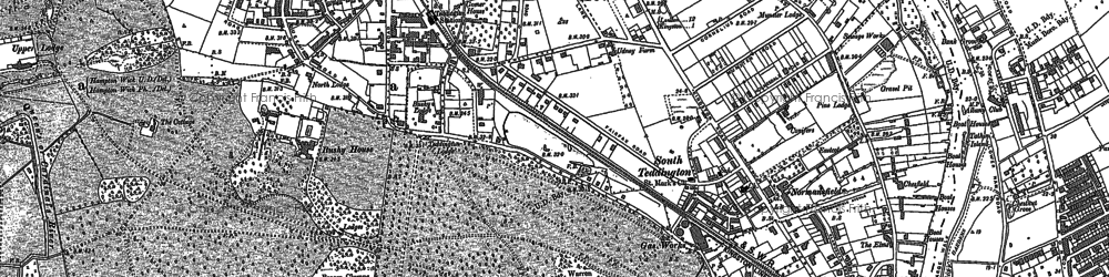 Old map of Teddington in 1894