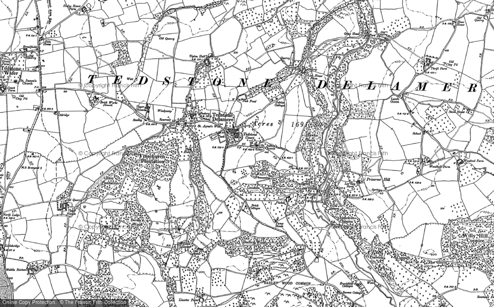 Old Map of Historic Map covering Tidbatch in 1902